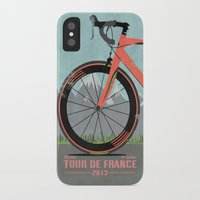 tour de france iPhone & iPod Cases featuring Tour De France Bike by Wyatt Design