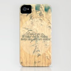 Wherever you go, no matter what the weather, always bring your own sunshine.   Slim Case iPhone (4, 4s)