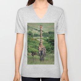 Giraffe Standing tall Unisex V-Neck
