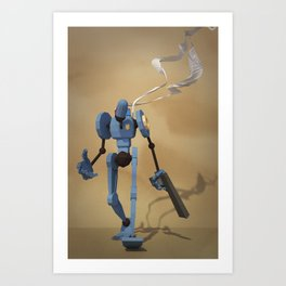 Police_Bot Art Print