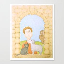 La Patronne des Animaux Canvas Print