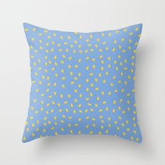 Yellow Pit on Blue /// www.pencilmeinstationery.com Throw Pillow