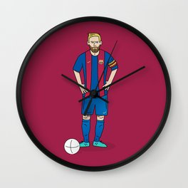 Lionel Messi - Red Wall Clock
