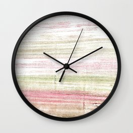 Dark vanilla abstract watercolor Wall Clock