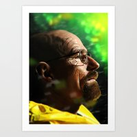 walter white Art Prints featuring Walter by Chris Ham