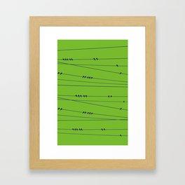 Many Birds on a Wire Framed Art Print