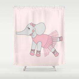 illusima Ballerina Elephant Shower Curtain