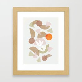 Minimal Autumnal Dance 1 Framed Art Print