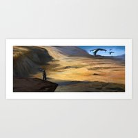 Visitors Art Print