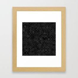 Black and White Overlap 1 Framed Art Print