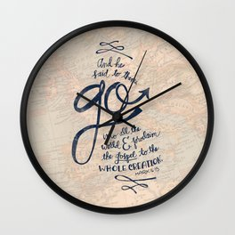 Go Into All The World Wall Clock