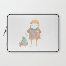 Bird Elf with a Gift Laptop Sleeve