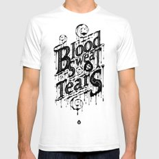 Blood, Sweat, & Tears White Mens Fitted Tee X-LARGE