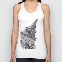 eiffel tower Tank Tops featuring Eiffel Tower by Ugurcanozmen