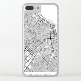 Buenos Aires Map White Clear iPhone Case