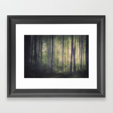 In the woods of Mournton Combs Framed Art Print