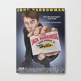 Captain Jack Harkness - Time Agent Metal Print
