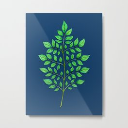 Patterns in Nature - Leaf Fractal Metal Print