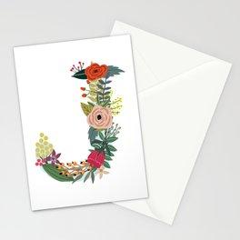 Monogram Letter J Stationery Cards