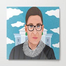 Ruth Bader Ginsburg Notorious RBG Metal Print