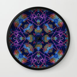Ornate Mosaic Wall Clock