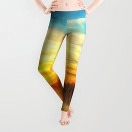 Paint Me A Sunset  Leggings