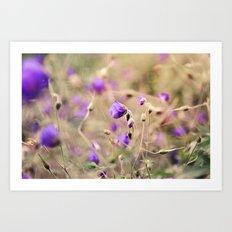Purple Past Art Print