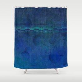 Dark Navy Blue Textured Abstract Shower Curtain