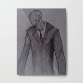 Man without a face. Metal Print