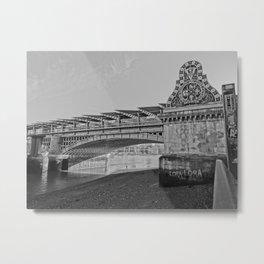 Bridge B&W Metal Print