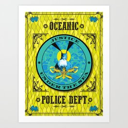 Ocean Justice Art Print