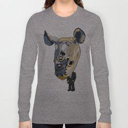 Gentleman Rhino Long Sleeve T-shirt