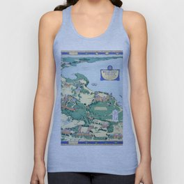 WELLESLEY College map MASSACHUSETTS dorm decor graduate Unisex Tank Top