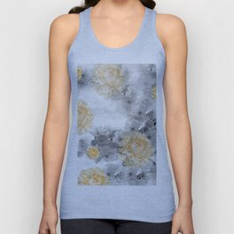 CHERRY BLOSSOMS AND YELLOW ROSES Unisex Tank Top