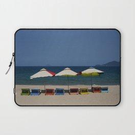 Beach Umbrellas in Nha Trang Laptop Sleeve