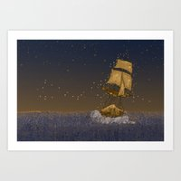 Enchanted Ship Art Print
