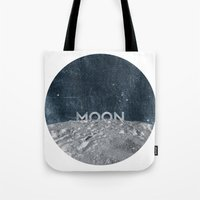 the moon Tote Bags featuring Moon by Chris Redford