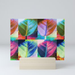 Abstract Leaf Colors Mini Art Print