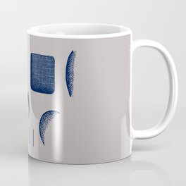 Skull Linework (Dark Blue / Gray) Coffee Mug