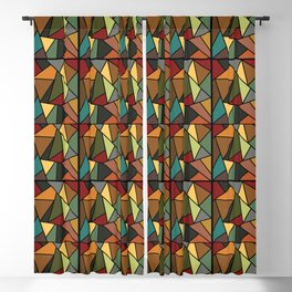 Baroque Autumn Stained Glass Pattern Blackout Curtain