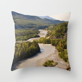 MatRiverValley Throw Pillow
