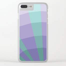 Blue purple abstract net Clear iPhone Case