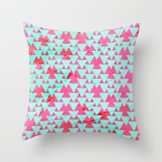 Watercolor Triangle Party Throw Pillow