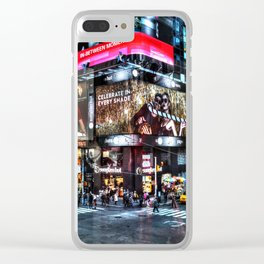 Times Square New York Clear iPhone Case