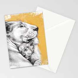 Lioness Mom Love Art Stationery Cards
