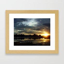 Sunset on the River Kwai Framed Art Print