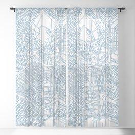 Street MAP Los Angeles // Blue Sheer Curtain