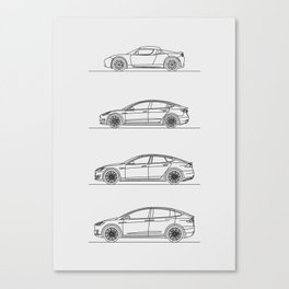 TESLA LINE UP Canvas Print