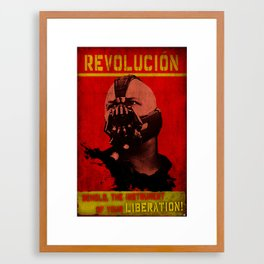 Che Bane Revolution Pop Art illustration Nerdy Illustration Sci-fi Movi Framed Art Print