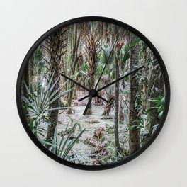 Palm Trees in the Green Swamp Wall Clock